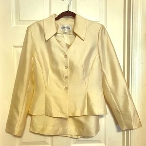 Albert Nipon silk suit